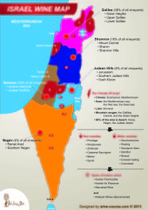 WineJet Israel Wine Map A1 5