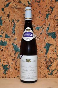 Riesling Auslese Ungsteiner Honigsackel Johann Schenk Rhein-Pfalz 1976